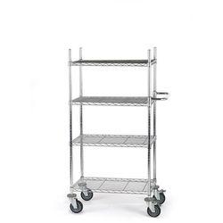 Wózek stołowy z kratą drucianą, z półkami, dł. x szer. x wys. 760x460x1350 mm, 4