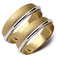 Złote obrączki 6mm białe i żółte złoto ST58
