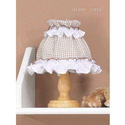 MAMO-TATO Lampka Nocna Miś z serduszkiem brąz z białym