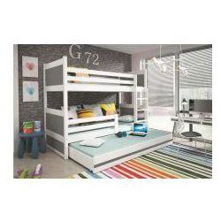 Łóżko piętrowe 3-osobowe Rico białe 90x200, 1291