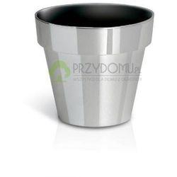Doniczka Cube chrome DGC170S gładka srebrny