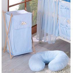 MAMO-TATO Kosz na bieliznę Śpiący miś w błękicie - sprawdź w wybranym sklepie