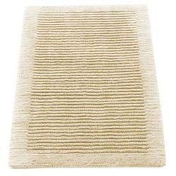 Dywanik łazienkowy Cawo ręcznie tkany 120 x 70 cm kremowy