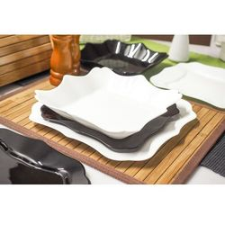 LUMINARC AUTHENTIC BLACK & WHITE Serwis obiadowy 18/6, kolor czarny
