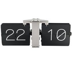 Karlsson:: Zegar biurkowy Flip Clock No Case czarny - czarny