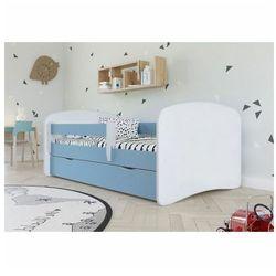 Łóżko dla chłopca z barierką happy 2x 80x160 - niebieskie marki Producent: elior