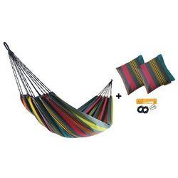 Zestaw hamakowy H w kolorze 296 z poduszkami i zestawem montażowym, Szary H-PZS-296