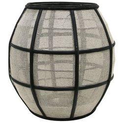 HK Living Okrągły bambusowy lampion z siatką, czarny/naturalny AKA3004, AKA3004