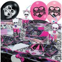 Zestaw urodzinowy Monster High - 37 elem., towar z kategorii: Dekoracje i ozdoby dla dzieci