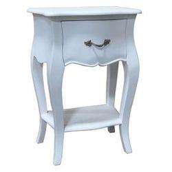 stolik nocny louis white, 45 × 30 × 65 cm marki Dekoria