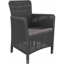 Allibert krzesło ogrodowe trenton grafit 226453 (8711245129334)