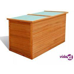 Vidaxl skrzynia ogrodowa, 126 x 72 x 72 cm, drewniana