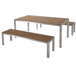 Aluminiowe meble ogrodowe brązowe NARDO (7081451871626)