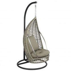 Fotel wiszący ogrodowy huśtawka kropla biały dobrebaseny marki Pure garden & living