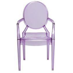 Krzesło dziecięce mini royal junior inspirowane louis ghost - fioletowy ||transparentny marki D2.design