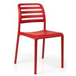 Krzesło ogrodowe z polipropylenu wzmocnionego włóknem szklanym Nardi Costa Bistrot czerwone, towar z kategorii: Krzesła ogrodowe