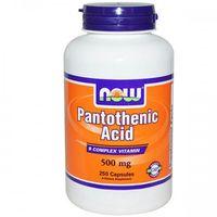 Now Foods, kwas pantotenowy, 500 mg, 250 kapsułek - produkt z kategorii- Pozostałe zdrowie