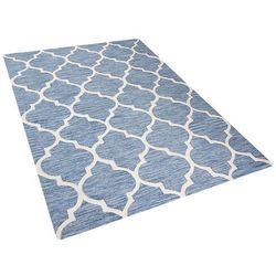 Dywan jasnoniebieski - 160x230 cm - handmade - bawełna - YALOVA (4260580924578)