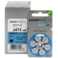 120 x baterie do aparatów słuchowych Power One Implant Plus 675 MF - produkt z kategorii- Baterie