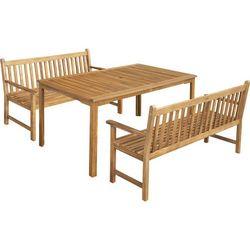 meble ogrodowe calypso 6 z dwoma ławkami wyprodukowany przez Fieldmann