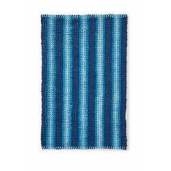 Dywaniki łazienkowe w strukturalny wzór niebieski marki Bonprix