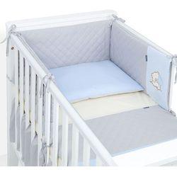 MAMO-TATO 3-el dwustronna pościel pikowana dla niemowląt 90x120 Szary / błękit