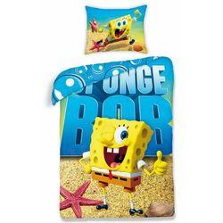 Halantex Dziecięca pościel bawełniana Spongebob 0012, 140 x 200 cm, 70 x 90 cm