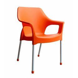 MEGA PLAST krzesło MP1282 URBAN 83,5x60x54 cm, pomarańczowe z kategorii Krzesła ogrodowe