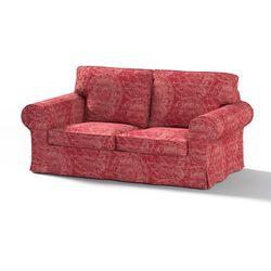 Dekoria Pokrowiec na sofę Ektorp 2-osobową, nierozkładaną, bordowe wzory, Sofa Ektorp 2-osobowa, Mirella