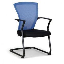 B2b partner Krzesło konferencyjne bret, czarno/niebieskie
