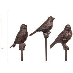 Moodgood Ogrodowy żeliwny ptaszek na patyczku w kolorze brązu