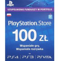 PlayStation Network Karta PSN - 100zł (kod pre-paid)