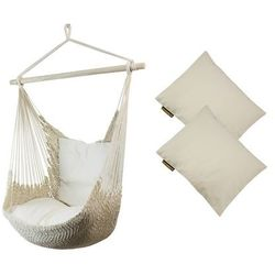 Fotel hamakowy z poduszkami, ecru Viva + HP-209