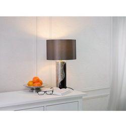 Beliani Nowoczesna lampka nocna - lampa stojąca czarno-srebrna - aiken (7081453445924)