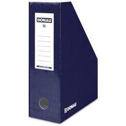 Pojemnik na dokumenty DONAU, karton, A4/100mm, lakierowany, granatowy