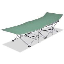 Vidaxl Składany leżak, zielony, stal, 186 x 67,5 x 49 cm