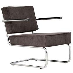 Zuiver Krzesło Lounge RIDGE RIB ARM szare 3100015