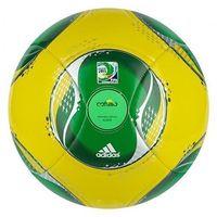 Adidas Piłka  confed cup glider żółto-zielona - żółto-zielony ||czarno - zielony