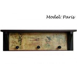 Wieszak ozdobny półka MDF Paris