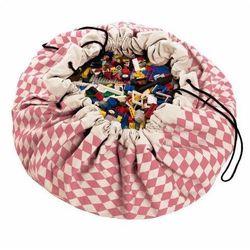 Worek na zabawki Play&Go - różowe romby - produkt z kategorii- Pojemniki na zabawki