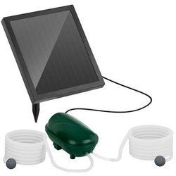Pompa solarna do oczka wodnego - 200 l/h - 2 kamienie napowietrzające - bateria marki Uniprodo