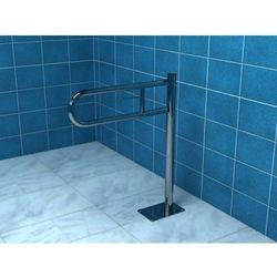 Poręcz łukowa uchylna 600 mm mocowana do podłogi, z miejscem na papier połysk/mat, PS760P