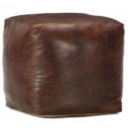 Skórzany puf do siedzenia - Mambo 3X, vidaxl_248127