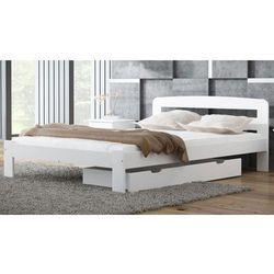 Łóżko drewniane Sara 140x200 białe z materacem piankowym