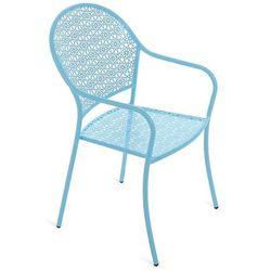 Krzesło ogrodowe metalowe Maja Blue