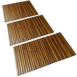 Vidaxl mata prysznicowa z drewna akacjowego (80 x 50 cm) x3