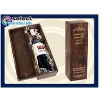 Skrzynka na wino grawerowana typu kuferek marki Select