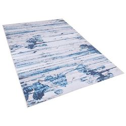 Dywan niebieski 140 x 200 cm krótkowłosy burdur marki Beliani