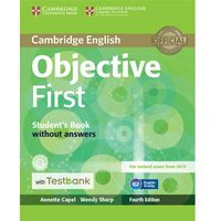 Objective First Student's Book without Answers with CD-ROM with Testbank - Capel Annette, Sharp Wendy