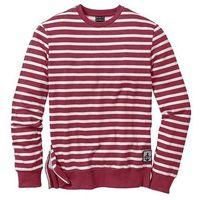 Bluza dresowa Slim Fit bonprix ciemnoczerwony w paski, kolor czerwony